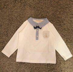 蝶タイ付きスムースシャツ