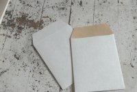 クラフトペーパーデュプレ はがきサイズ縦型封筒 50枚