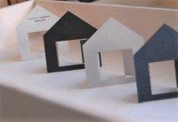 アクセサリー台紙 家型
