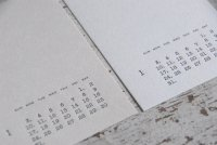 活版印刷2021カレンダー はがきサイズ