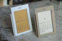 活版印刷2021カレンダー名刺縦 卓上型