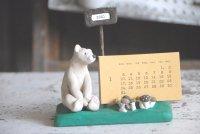 ●おけひろ。●カレンダースタンド 森のくまさん 2021活版カレンダー付