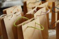 クラフト ミニ手提げ袋 14cm(麻紐)