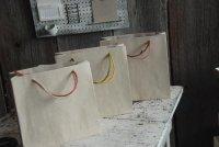薄茶 手提げ袋 正方形 21cm