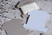 家型糸巻き台紙 S 白