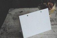 白ボール カレンダー台紙 はがき横 10枚