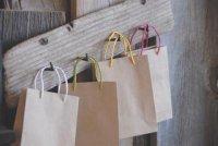 クラフトミニ手提げ袋 14cm (紙紐)