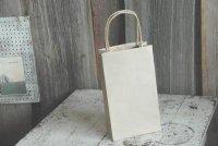 薄茶 手提げ袋 ロング 15cm×26cm