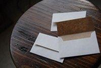 クラフトペーパーデュプレ 名刺サイズ封筒 50枚