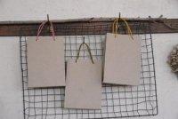 薄茶 手提げ袋(麻紐) 15cm×21cm