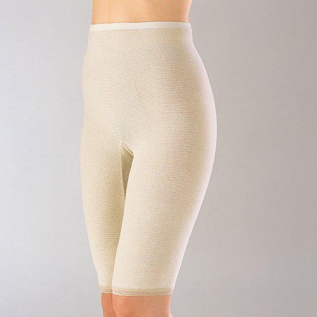 【ゲルマ】のびのびパンツ 5分丈 腹巻パンツ 温活 冷えは万病の元 腰、お腹、下半身を温める インナー 下着 ズロース 毛糸のパンツ