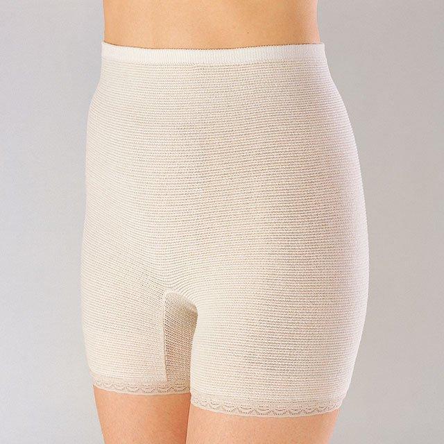 【ゲルマ】のびのびパンツ 3分丈 芯から温める 温活 冷えは万病の元 腰、お腹、下半身を温める インナー 下着 ズロース 毛糸のパンツ