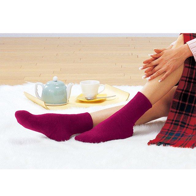 【ゲルマ】<br>かかとつるつるソックス<br><女性用><br>先丸靴下 遠赤効果 男女兼用 履くだけで踵ケア 踵保湿