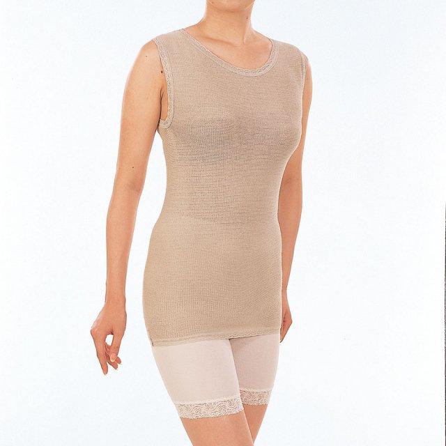 【シルク】のびのびインナーベスト シルクを贅沢に使った快適インナー タンクトップ のびのび構造 一年中快適な下着