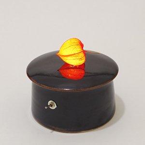 川村忠晴 陶器のライト ほおずき