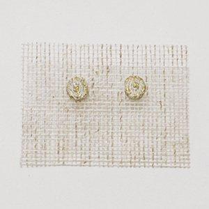 小原聖子 pierced earrings WHITE 18