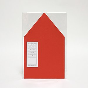 PAPIER LABO. パピエラボ HOUSE LETTER SET / red