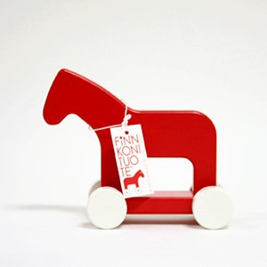 Arvo Vatanen Finnish Wooden Horse M red