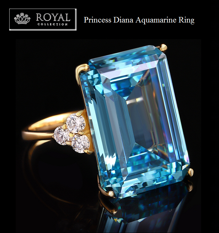 Princess Diana, Meghan Markle Aquamarine Cocktail Ring