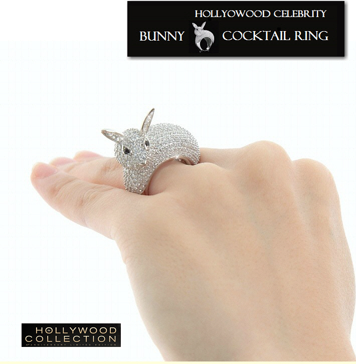 Bunny Cocktail Ring Hollywood Jewelry