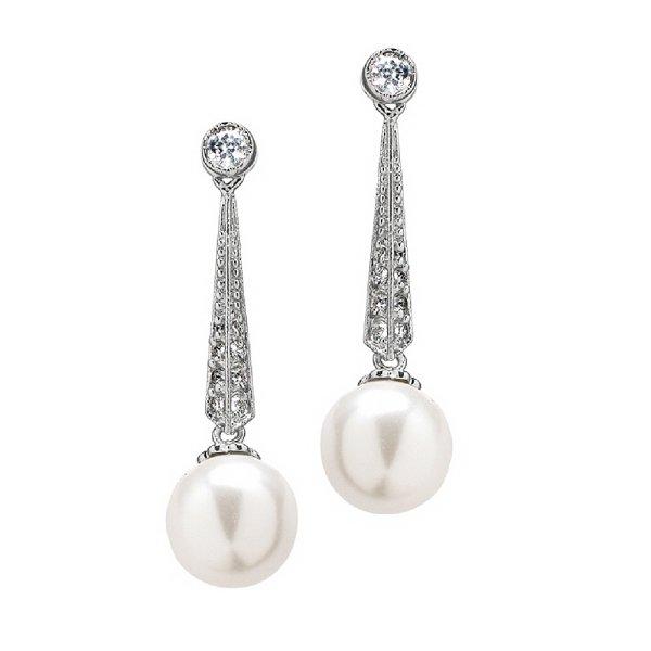 真珠 ピアス パール  パヴェ 揺れるピアス アールデコ レティシア王妃 ロイヤルコレクション