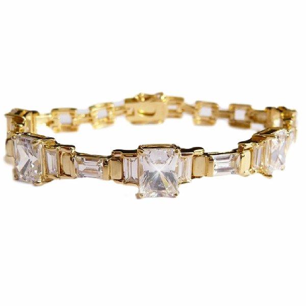 ダイヤモンド 18金 アールデコ  ブレスレット ラナ ターナー ハリウッド スター ジュエリー