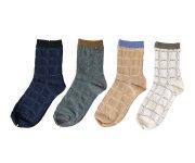 mina perhonen(ミナ ペルホネン)/Lady's Quilt Cloud Socks