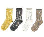 mina perhonen(ミナ ペルホネン)/Lady's garden patchwork socks