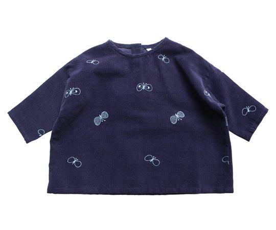 2ad797de67a9f mina perhonen(ミナ ペルホネン)/choucho cut sew /navy- 子供服の通販サイト doudou jouons