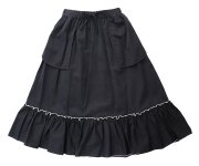 <img class='new_mark_img1' src='https://img.shop-pro.jp/img/new/icons7.gif' style='border:none;display:inline;margin:0px;padding:0px;width:auto;' />GRIS(グリ)/Gathered Skirt /Black