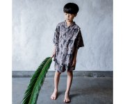 <img class='new_mark_img1' src='https://img.shop-pro.jp/img/new/icons20.gif' style='border:none;display:inline;margin:0px;padding:0px;width:auto;' />【30%off】michirico (ミチリコ)/Flora and fauna ジンベイ/charcoal