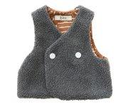 <img class='new_mark_img1' src='https://img.shop-pro.jp/img/new/icons7.gif' style='border:none;display:inline;margin:0px;padding:0px;width:auto;' />【予約販売】eLfinFolk(エルフィンフォルク)/Sheep boa baby vest - gray