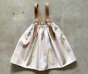 <img class='new_mark_img1' src='https://img.shop-pro.jp/img/new/icons7.gif' style='border:none;display:inline;margin:0px;padding:0px;width:auto;' />【予約販売】eLfinFolk(エルフィンフォルク)/Wide stripe suspenders skirt - off white x beige