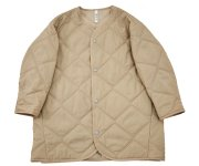 <img class='new_mark_img1' src='https://img.shop-pro.jp/img/new/icons7.gif' style='border:none;display:inline;margin:0px;padding:0px;width:auto;' />【予約販売】MOUN TEN.(マウン テン)/quilt mitton coat - beige