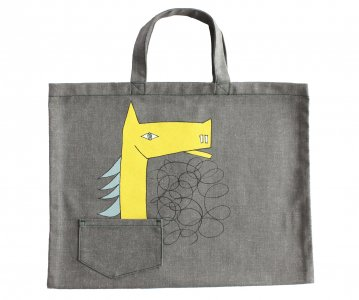 mina perhonen(ミナ ペルホネン)/Thoroubred Tote Bag grey