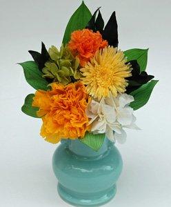 プリザーブドフラワーの仏花(清光ー黄色)