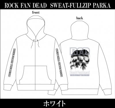 【4/12〆切 予約受け付け中】 RISE FROM THE DEAD 『ROCK FAN DEAD Zip Parka [ホワイト]』 (PARKA/JPN)