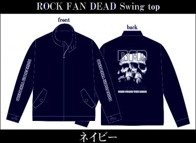 【4/12〆切 予約受け付け中】 RISE FROM THE DEAD 『ROCK FAN DEAD Swing Top Jacket [ネイビー]』 (JACKET/JPN)