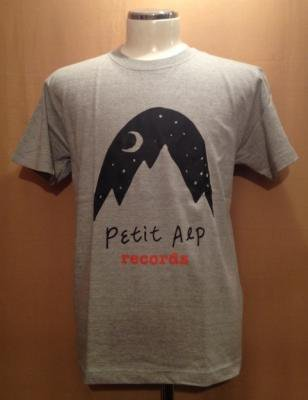 『Petit Alp Records LOGO T-Shirts [ミックスグレー]』 (TEE/TAIWAN)