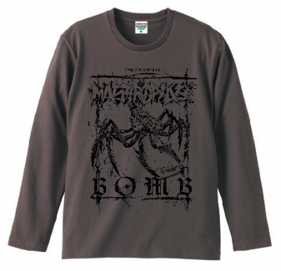 MASTERPEACE 『BOMB Long Sleeve T-Shirts [チャコール]』 (TEE/JPN)