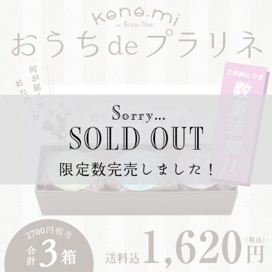 【限定30セット】 おうちdeプラリネ