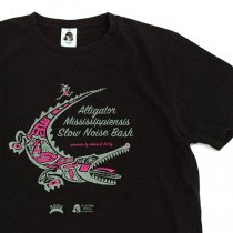 TACOMA FUJI RECORDS (タコマフジレコード)Alligator Mississippiensis Slow Noise Bash Tシャツ|ブラック
