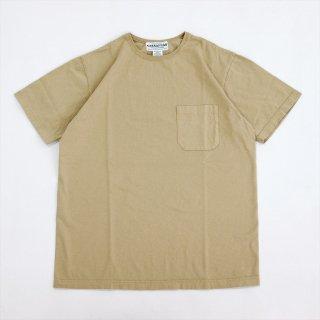 SASSAFRAS(ササフラス)CHOP CORNER POCKET T(Tシャツ)ベージュ