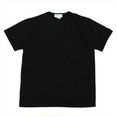 SASSAFRAS(ササフラス)CHOP CORNER POCKET T(Tシャツ)ブラック