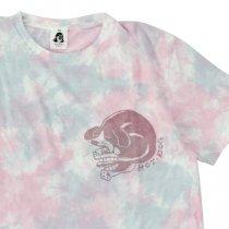 TACOMA FUJI RECORDS (タコマフジレコード)HOT DOG LOGO TIE DYE(Tシャツ)タイダイ(ブルー&ピンク)