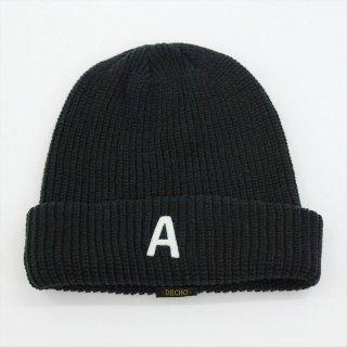 DECHO(デコー)x ANACHRONORM(アナクロノーム)BEAT INITIAL KNIT CAP ブラック「A」