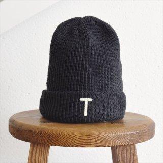 DECHO(デコー)x ANACHRONORM(アナクロノーム)BEAT INITIAL KNIT CAP ブラック「T」