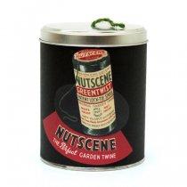イギリスNutscene(ナッツシーン)レトロ缶麻ひもスプール150m|グリーン