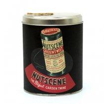 イギリスNutscene(ナッツシーン)レトロ缶麻ひもスプール150m|ナチュラル