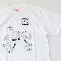 Suolo(スオーロ)FLOWERS NOT GUNS!(フラワーズノットガンズ)Tシャツ ドローイング(ホワイト)